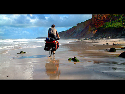 Beach cycle in Brazil